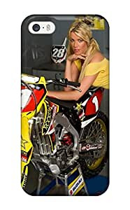 Iphone 5/5s Cover Case - Eco-friendly Packaging(girls And Motorcycles) With Free Screen Protector