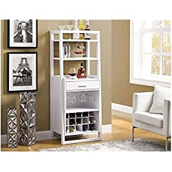 Monarch Ladder Style Bar Unit, 60-Inch, White