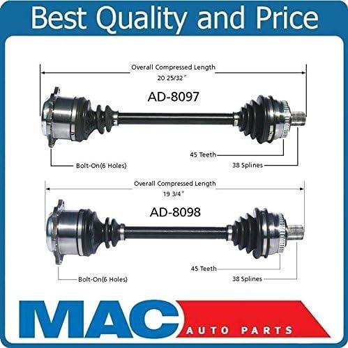 2 100/% New 97-01 A4 Quattro AWD W//Automatic Trans Front L /& R Cv Shaft Axles
