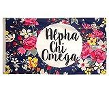 chi omega flag - Desert Cactus Alpha Chi Omega Floral Pattern Sorority Flag Greek AXO