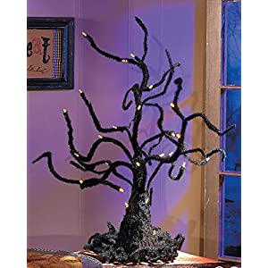 Spooky Wire Ghost Tree with LED Lights Halloween Decor