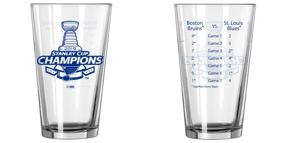 Boelter St. Louis Blues 2019 Stanley Cup Champions 2 Sided Summary 16 Ounce Pint Glass