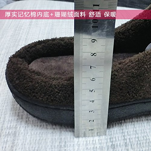 Il cotone pantofole inverno femmina home soggiorno di un paio di spessore indoor anti-slittamento peluche caldo vello uomini e aumentare il numero di scarpe ,36-37, Viola
