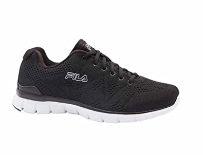 6367c285f Fila Mens Athletic Shoe Memory Foam Black White Size 9.5