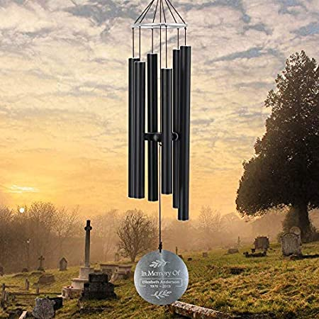 As Sympathy Gift for Loss of Love,Xmas Customized Gift.Two Sizes Options ASTARIN Personalized Memorial Wind Chimes Outdoor Large deep Tone Custom Engraved Wind Chimes in Memory of Loved One
