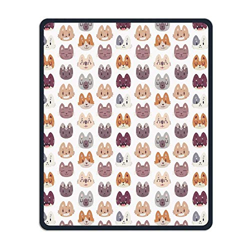 Cute Cat Head Wallpaper Portable Gaming Mouse Pad Comfortable Non-Slip Base Durable Stitched Edges 7.08 X 8.66 Inch, 3mm Thick]()