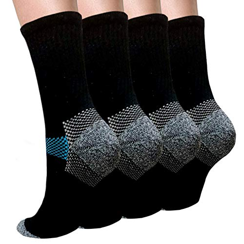 (Sport Plantar Fasciitis Compression Socks Arch Support Ankle Socks - Best For Running, Athletic, and Travel (Large/X-Large, Black 1) )