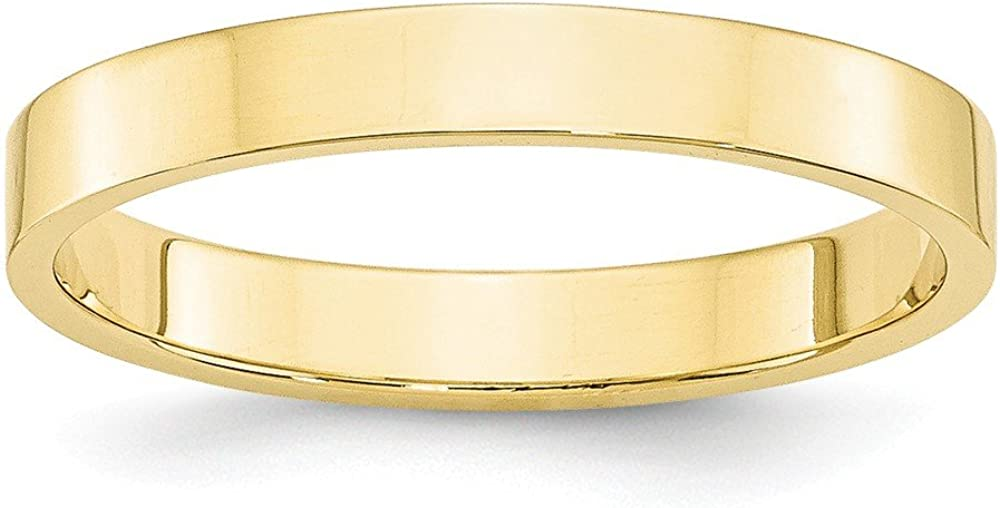 10k Yellow Gold 3mm Flat Band Ring Size 8.5 Fine Jewelry Ideal Gifts For Women