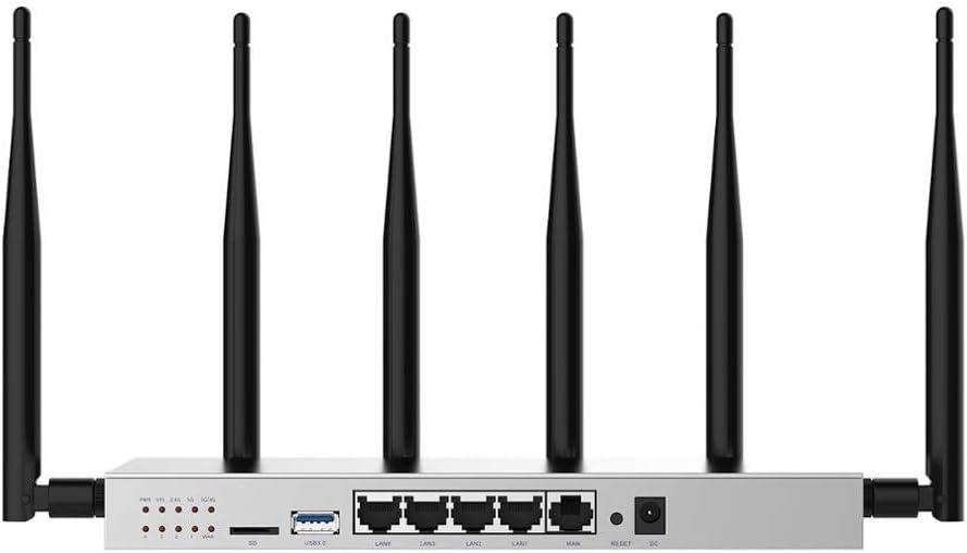Liutao-Routers Router 3G 4G con la Tarjeta SIM del módem Ranura Fuerte WiFi Estable Rendimiento de Alta Ganancia de la Antena omnidireccional (Color : A, tamaño : 2.4G(NO 3g4g) EU Plug)