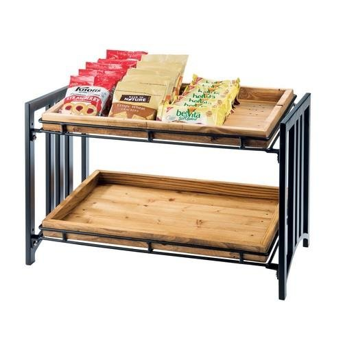 Cal-Mil 1722 Mission 2 Tier Stand, 23'' W x 13'' D x 15'' H, Black by Cal Mil