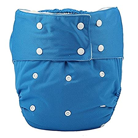 Adult Cloth Diaper Cover Nappy Reusable Washable Adjustable for Disability Incontinence Person (D04-3PCS) CN