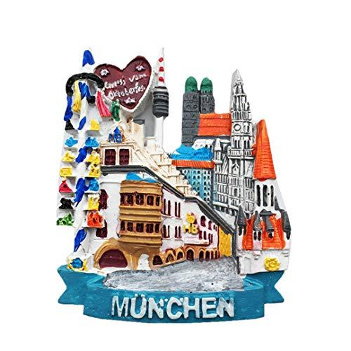(Fridge Magnet Munich Germany 3D Resin Handmade Craft Tourist Travel City Souvenir Collection Letter Refrigerator)
