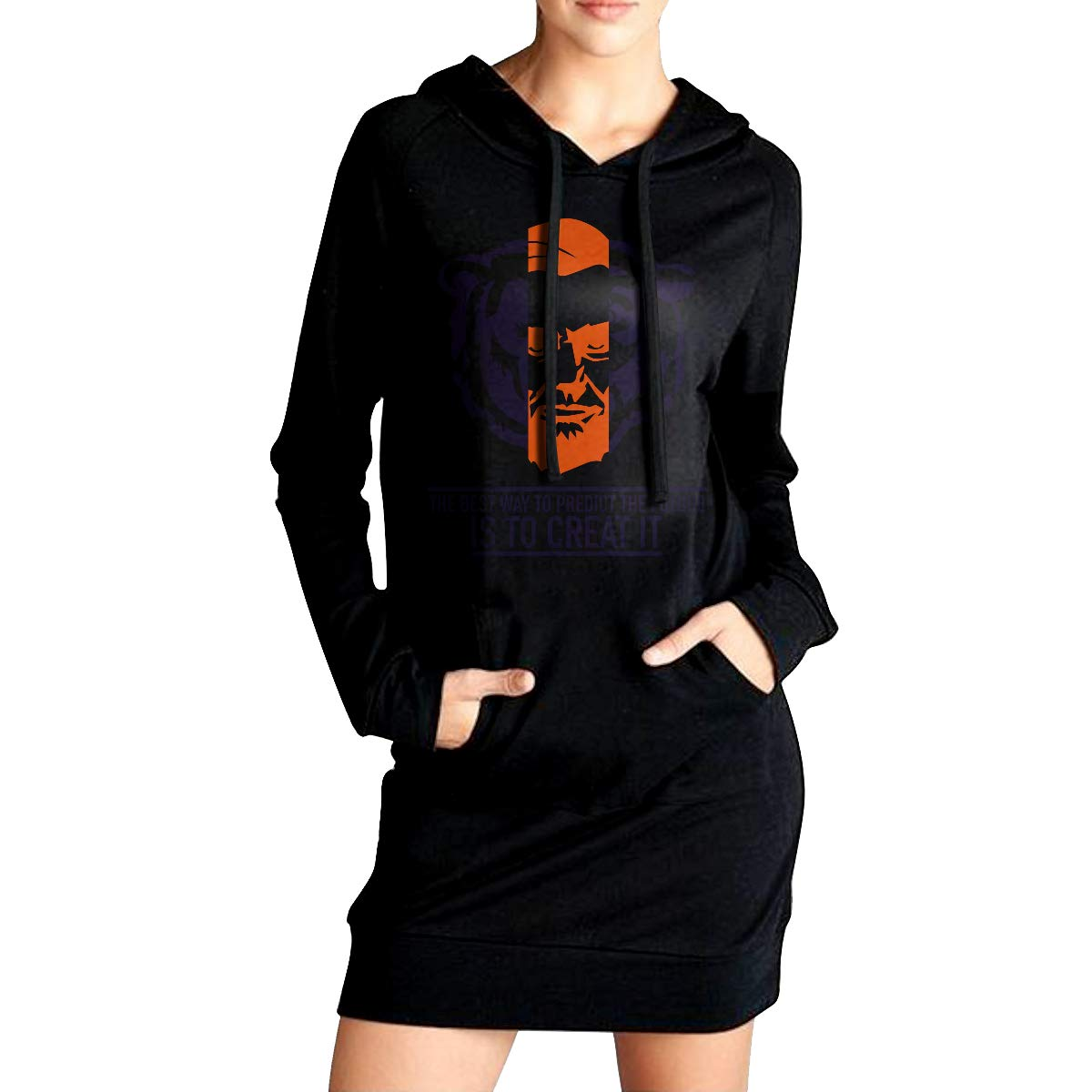 TDYUS DesignName Girls Classic Black Fleeces With Pocket