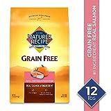 Nature's Recipe Grain Free Easy to Digest Dry Dog Food, Salmon, Sweet Potato & Pumpkin Recipe, 12-Pound