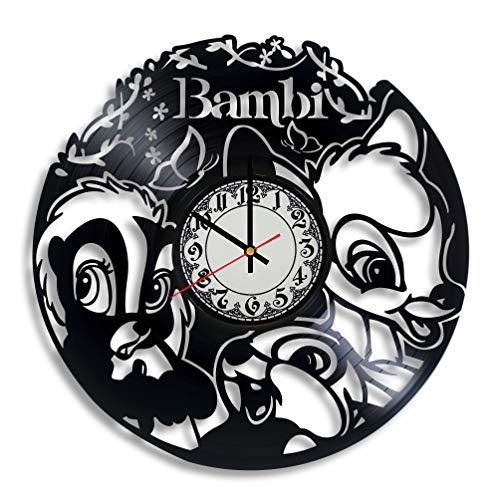 Lepri4ok Bambi Handmade Wall Clock, Birthday Party Clock