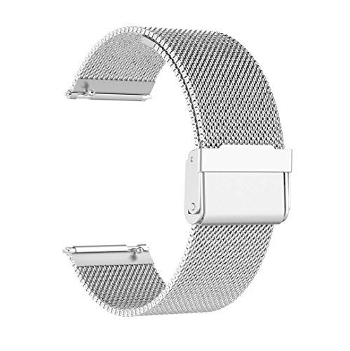 Price comparison product image Owill Luxury Milanese Loop Stainless Steel Watch Band Strap For Suunto Spartan Sport,  Fits 5.71-8.27 inches Wrist (Silver)