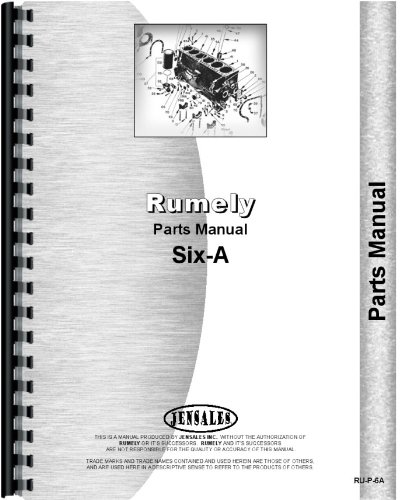 Rumely 6-A Oil Pull Tractor Parts ()