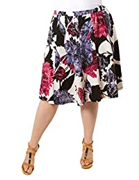 SWAK Designs Womens Plus Size Straight Casual Mid Length Mandy Skirt