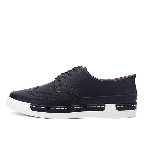 Caída de zapatos de moda de los hombres coreanos/Transpirable zapatos casuales/Corte bajo hombres encaje zapatos: Amazon.es: Zapatos y complementos