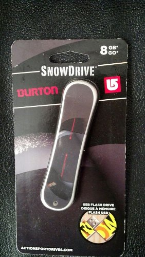 Snowdrive Usb Flash Drive - SNOWDRIVE BURTON 8 GB GO USB FLASH DRIVE