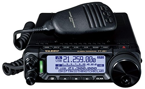 Yaesu Original FT-891 HF/50 MHz All Mode Analog Ultra Compact Mobile / Base Transceiver - 100 Watts - 3 Year Warranty (Best Portable Hf Transceiver)