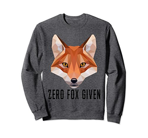 Unisex Zero Fox Given Funny Fox Animal Pun Sweatshirt 2XL Dark Heather