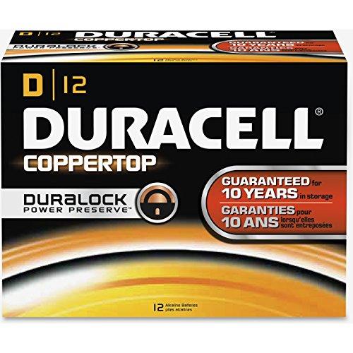 DUR01301 - Duracell CopperTop D Batteries
