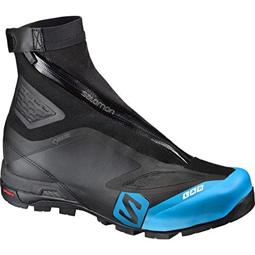Salomon Unisex S-Lab X Alp Carbon 2 GTX Mountain Boots Black/Black/Transcend Blue 8.5 (S Lab X Alp Carbon 2 Gtx)