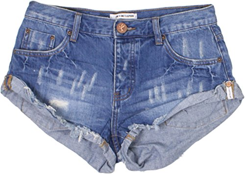 One Teaspoon Women's New Pacifica Bandit Shorts (28) by One by One Teaspoon