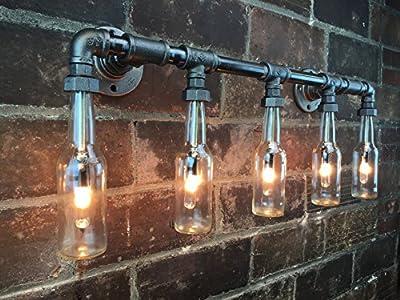 Industrial Vanity Lamp - Bathroom Light - Iron Pipe Fixture - Vanity Light