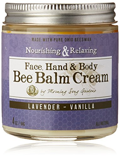 Bee Balm Cream, Lavender Vanilla, 4 oz