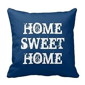 Blue Home sweet home weathered heart throw PillowCase 16x16