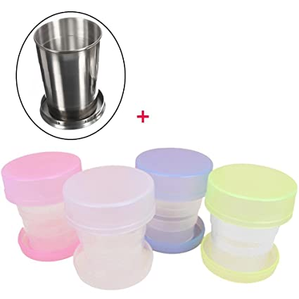 Amazon.com: meanhoo Camping Plegable Cups – Vaso de viaje ...