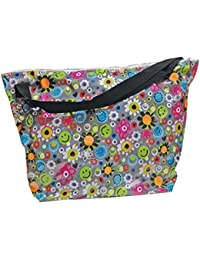 Girls' Weekender Travel Tote Bag with Adjustable Strap and Interior Zipper Pocket - Boho Bliss Collection