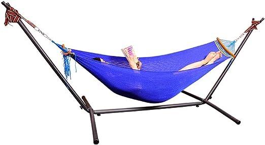 Parque Hamaca autoportante Hamaca de jardín Hamaca de balcón Hamaca de Lona Hamaca con Soporte, Capacidad de Carga de Aproximadamente 250 KG (Color : Blue, Size : 230 * 180CM): Amazon.es: Jardín