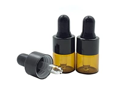 0142d95b50f1 15 Pcs Mini Tiny 1ml Amber Glass Dropper Bottles Refillable Essential Oil  Bottles Vials With Eyed Dropper For Aromatherapy Eye Dropper Cosmetics ...