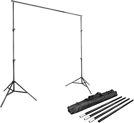 Raitron 2x2M T-Type Adjustable Backdrop Photography Background Support Stand Holder