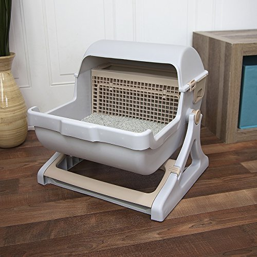 premium self cleaning cat litter box automatic pan lid cover luxury cat toilet 804037902760 ebay. Black Bedroom Furniture Sets. Home Design Ideas