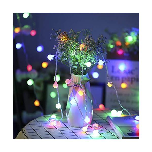 LE Catena Luminosa 13M 100 Lampadina LED RGB, Luci Stringa Impermeabile per Esterno ed Interno, 8 Modalità di Illuminazione e Funzione Timer, Ideale per Decorazione Casa, Natale, Feste, Giardino 3 spesavip