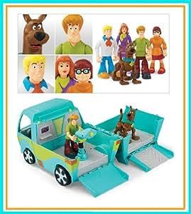 Amazon Com Scooby Doo 5 Pack Figures Amp Mystery Machine