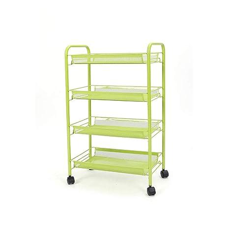 LF rejilla cesta carrito de malla de Metal cesta ruedas soporte resistente de almacenaje mueble ruedas