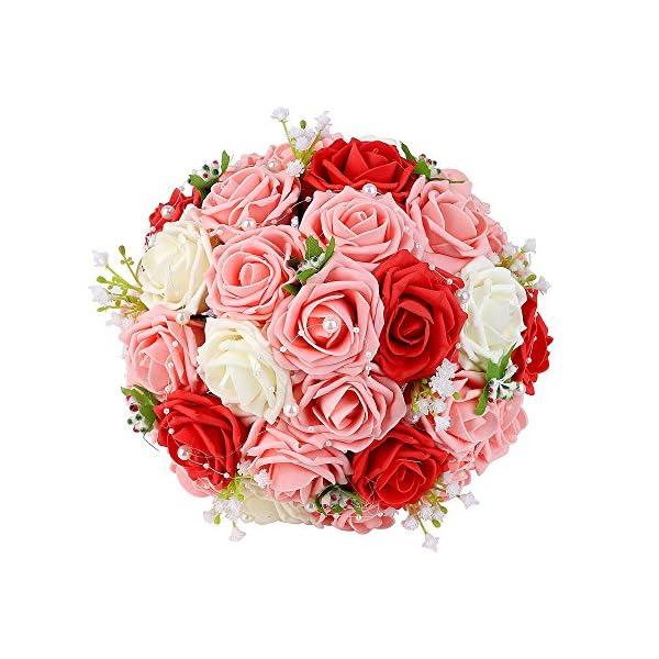 handmade artificial wedding flower bouquet anemone rose fruits