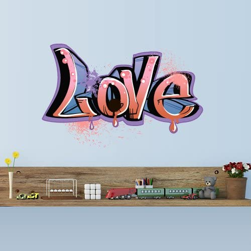Amazon Com Stickersforlife Full Color Wall Decal Sticker Kids Graffiti Words Quote Sign Love Col699 Home Kitchen