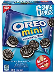 OREO Snak Paks Mini Cookies, Back to School Snacks, 180g