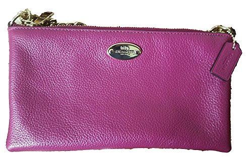 Leather Coach Crossbody Quinn Pebbled Cranberry CCrxYw5H