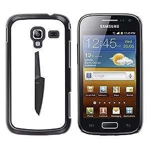 Be Good Phone Accessory // Dura Cáscara cubierta Protectora Caso Carcasa Funda de Protección para Samsung Galaxy Ace 2 I8160 Ace II X S7560M // Knife Black White Chef Cooking