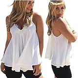 Susenstone Women Summer Chiffon Vest Sleeveless Shirt Blouse Casual Tank Tops