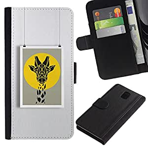 KingStore / Leather Etui en cuir / Samsung Galaxy Note 3 III / Art Peinture Summer