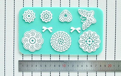 Amazon.com: Silicone Mold Lace Cake Molds Fondant Tools Forma De Bolo Cake Decorating Tools Silicone Chocolate Mold Bakeware: Kitchen & Dining