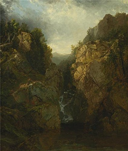 [Oil Painting 'John Frederick Kensett,A Woodland Waterfall,1855-1865' Printing On Polyster Canvas , 18x21 Inch / 46x54 Cm ,the Best Game Room Artwork And Home Decor And Gifts Is This Amazing Art Decorative Prints On] (God Of War 3 Costumes Hack)